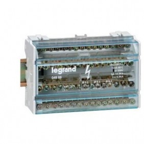 Terminal de tornillo bipolar Legrand 125A 2P 15 Agujeros de 8 Módulos 004882