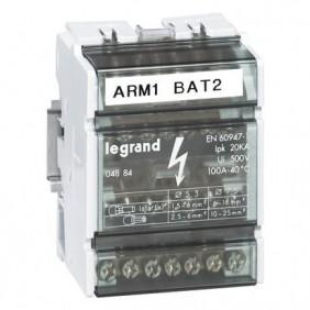 Morsettiera tetrapolare Legrand 4P 100A 7 Fori 4 Moduli 004884