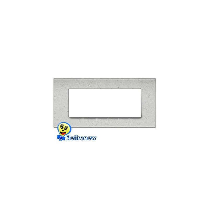 BTICINO LIGHT PLACCA 7 MODULI N4807IB