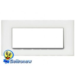 BTICINO LIGHT PLACCA 7 MODULI N4807OB