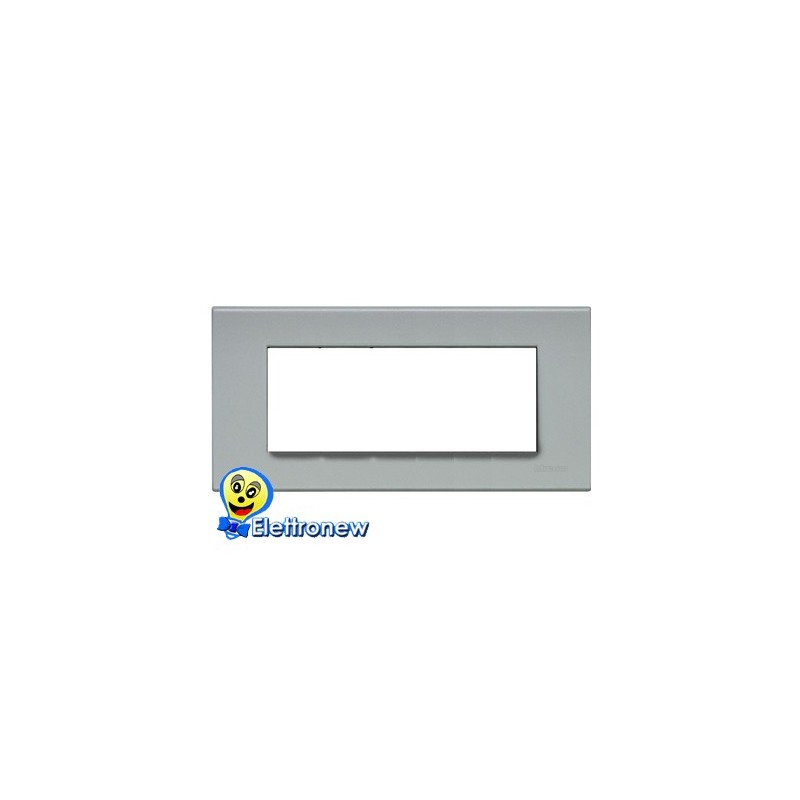 BTICINO LIGHT PLACCA 7 MODULI N4807GE
