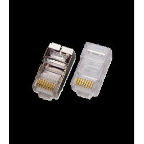 Plug Item schermato FTP/UTP 8/8c. RJ45 cat. 5e 50152