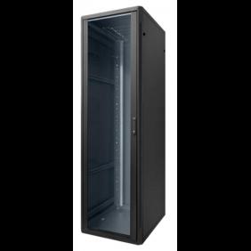 """Floor cupboard Item 19"""" Rack 24 Units 600X600X1185 Black 20150N"""