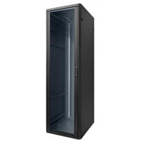 """Floor cupboard Item 19"""" Rack 42 Unit 800X800X1985 Black 20183N"""