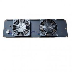 Pannello di ventilazione Item 3 Unità completo di 2 ventole Nero 20292N
