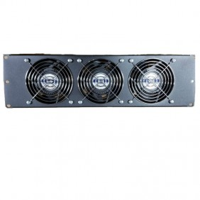 Ventilation panel Item 3 Unit complete with 3 fans Black 20293N