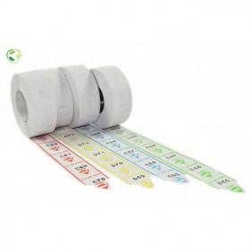 Confezione tickets Visel rotoli da 20000 ticket cadauno colore Azzurro