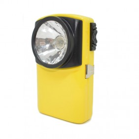 Flashlight Holster Plate in yellow metal TAT160ASS