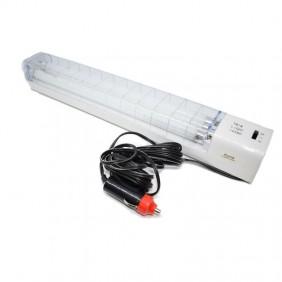 Lampada fluorescente portatile 2X8W 12V con accendisigari Auto 2653CW