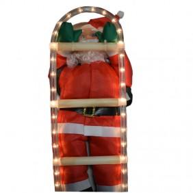 Babbo Natale Arrampicante Wimex 50 cm illuminabile 4504208