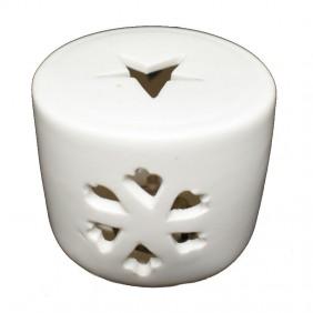Candela Natalizia Wimex in ceramica STAR WARM luce calda 4501060