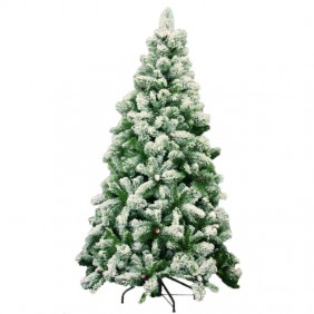Albero di Natale Giocoplast Germogliato Innevato Alto 180cm 500 Rami