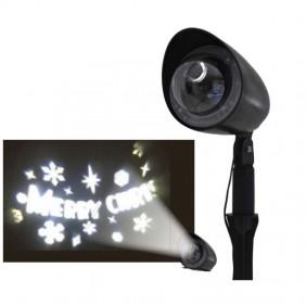Proiettore Laser Natalizio Giocoplast a Led con scritta Merry Christmas