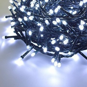Series Christmas Lights Giocoplast 500 White LED's and Cold inside/outside