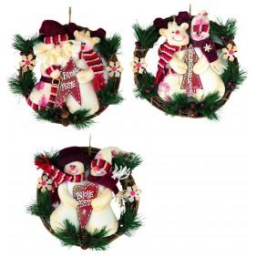 Fuori Porta di Natale Circolare Giocoplast COUNTRY con 2 pupazzi