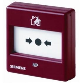 Pulsante manuale Siemens convenzionale con vetrino antincendio S54371F6A3