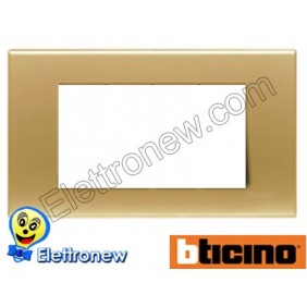 BTICINO LIGHT PLACCA 4 MODULI N4804OS