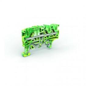 """Morsetto Cabur di terra a due piani """" Push-4mm giall/verde EFDE400"""
