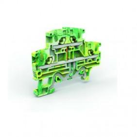 "Morsetto Cabur di terra a due piani "" Push-in 2,5 mm giallo/verde EFDE200"