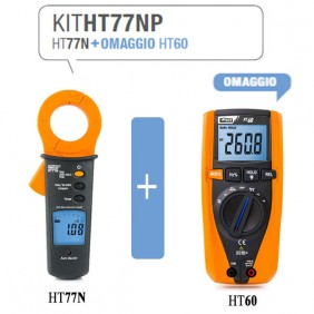 Kit HT Pinza amperometrica HT77N e  Multimetro digitale HT60 HA0077NP