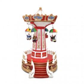 Carrusel de Navidad Giocoplast con Paparadute en el Movimiento de las Luces y la Música