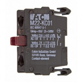 Auxiliary contact Eaton M22-KC01 NC...