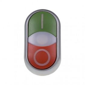 Pulsante doppio attuatore Eaton M22-DDL-GR-X1/X0 Luminoso 216700