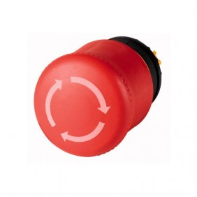Emergency stop button Eaton M22-PVT Red snap-263467
