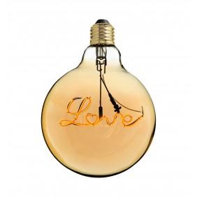 Lampadina Amarcords con filamento LED LOVE 4W G125 2000K