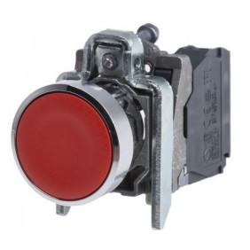 Pulsante Telemecanique completo rosso + 1NC XB4BA42