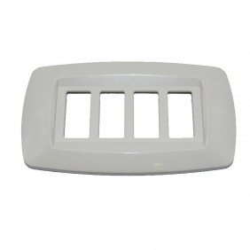 Master plate ways 4 places ivory MD284