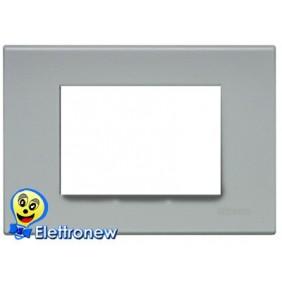 BTICINO LIGHT PLACCA 3 MODULI N4803GE