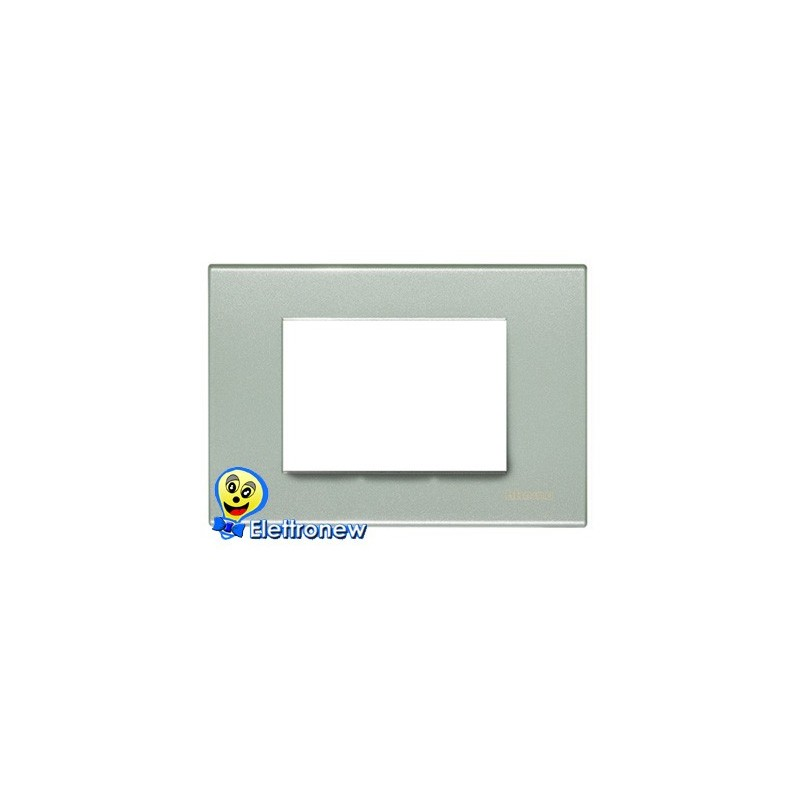 BTICINO LIGHT PLACCA 3 MODULI N4803GN