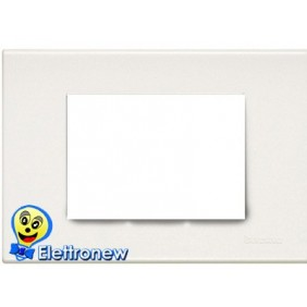 BTICINO LIGHT PLACCA 3 MODULI N4803LB