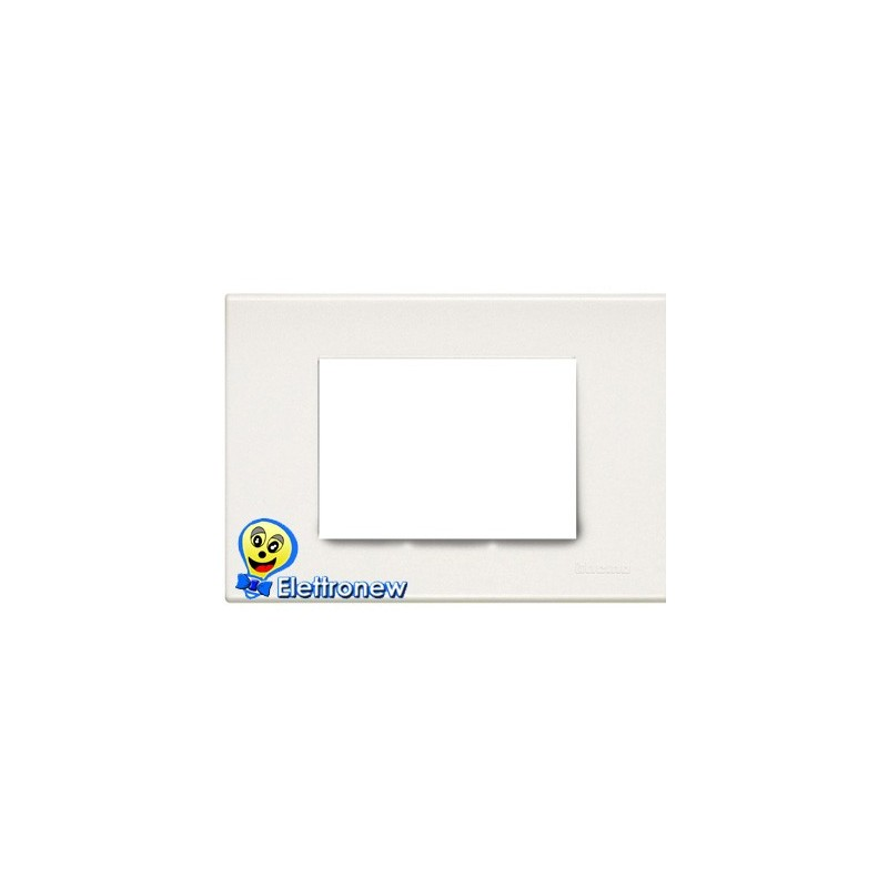 BTICINO LIGHT PLACCA 3 MODULI N4803LB