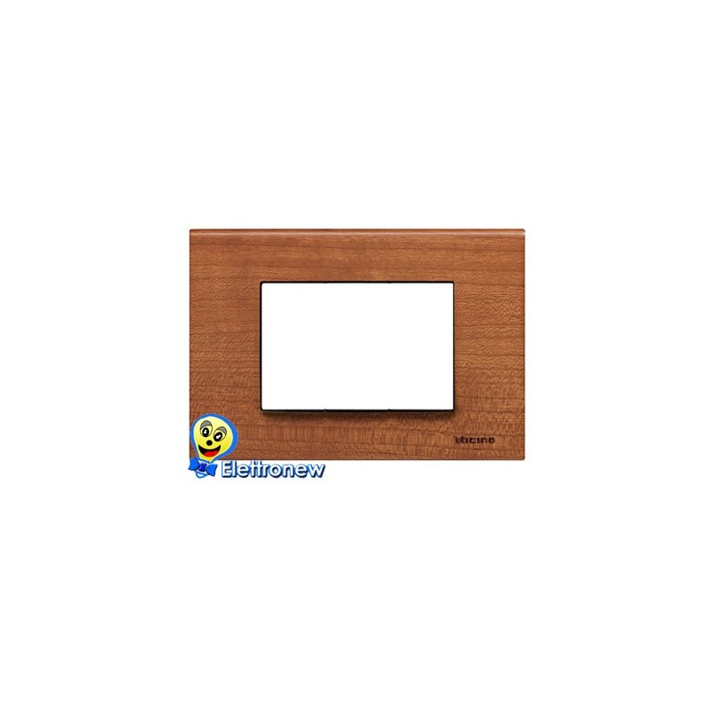 BTICINO LIGHT PLACCA 3 MODULI N4803LCA