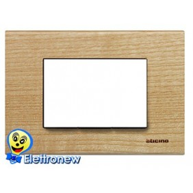 BTICINO LIGHT PLACCA 3 MODULI N4803LFR