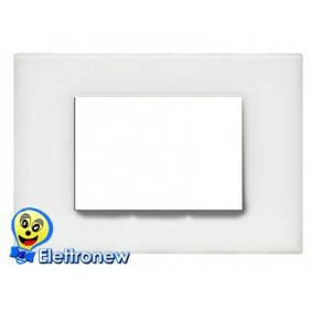 BTICINO LIGHT PLACCA 3 MODULI N4803OB