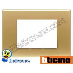 BTICINO LIGHT PLACCA 3 MODULI N4803OS