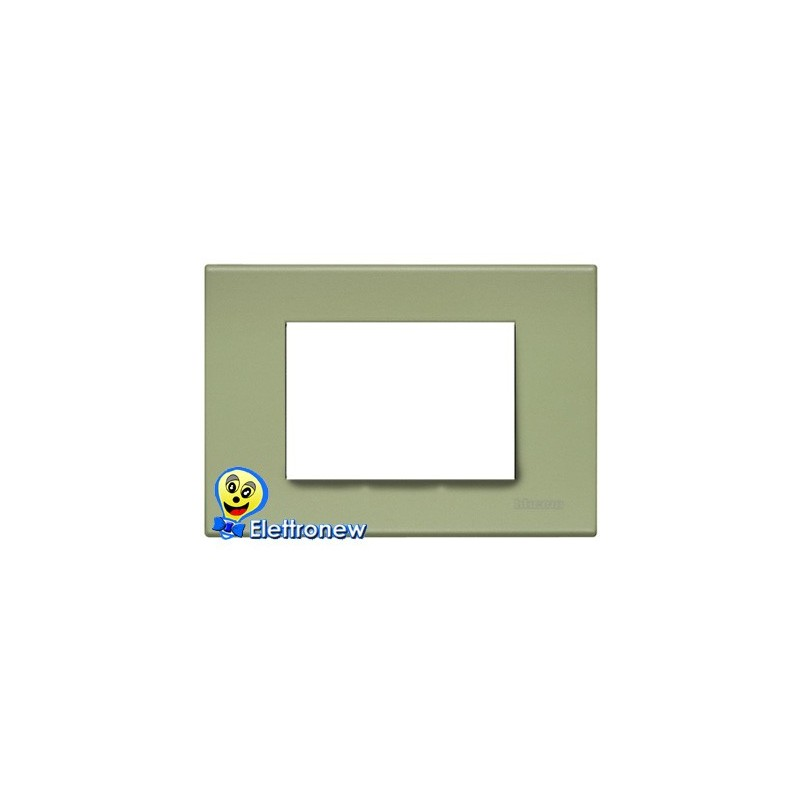 BTICINO LIGHT PLACCA 3 MODULI N4803VE