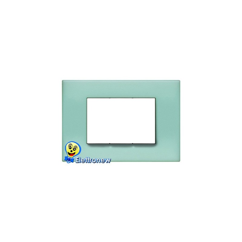 BTICINO LIGHT PLACCA 3 MODULI N4803VP