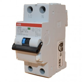 Residual current circuit breaker ABB 10A 30MA Type A, 6 KA 1P+N DS1C10A30