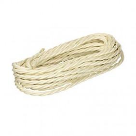 Fanton Câble tressé en soie 3X1,50 matazza 10 Mètres Ivoire 93828-10