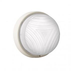 Plafoniera Lombardo Twister tonda bianca E27 IP44 LB54221