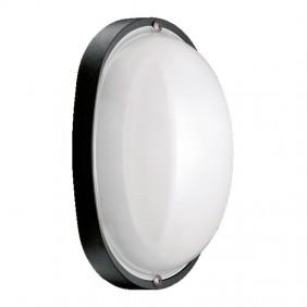Plafoniera Lombardo Prima ovale Nera E27 IP44 LB55122