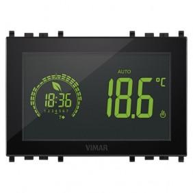 Cronotermostato a parete Vimar Touch 3 Moduli 120-230V Nero 02955