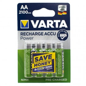 VARTA RECHARGEABLE BATTERY AA 2100mAh BLISTER 4 PIECES