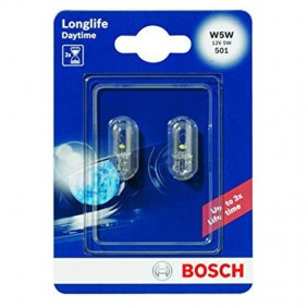 Bulbs for Car Bosch W5W Longlife 2 pieces 1202