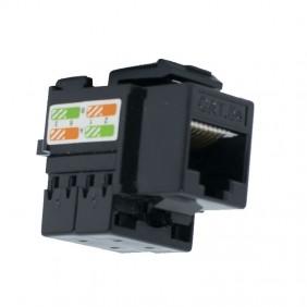 RJ45 socket Orca Category 5E UTP black color 232120-00