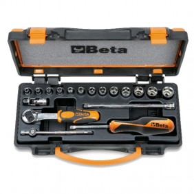 Set Beta of 13 socket wrenches, hex and 5 accessories 009000953